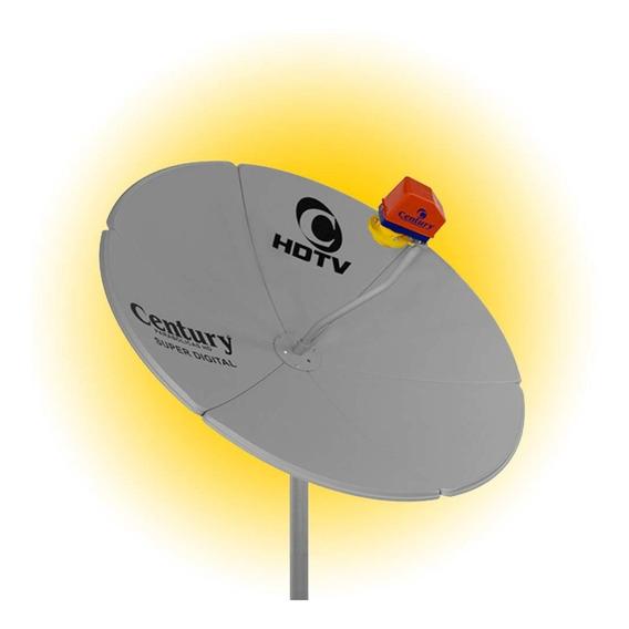 Antena Parabólica 1,50m Chapa Century Digital Digimaster