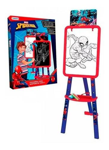 Pizarra Spiderman Con Soporte 2 En 1 Tapimovil