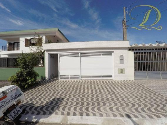 Casa Com 3 Dormitórios À Venda, 110 M² Por R$ 530.000 - Boqueirão - Praia Grande/sp - Ca0097