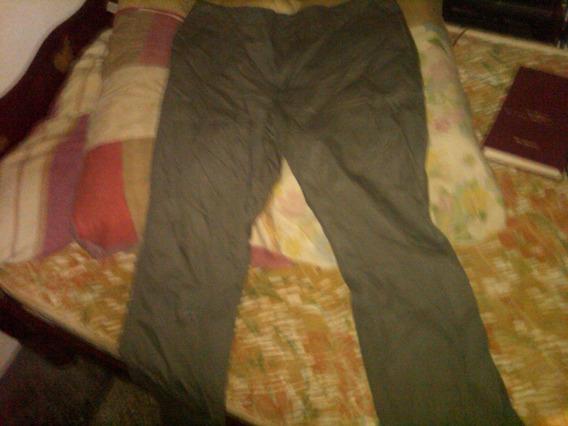 Pantalon Verde Oliva Oscuro. Algodon 100%. Talla(36).sin Uso