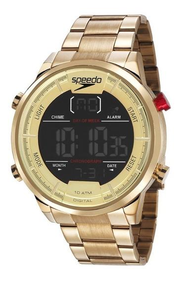 Relógio Masculino Speedo Dourado Digital 15005gpevds1 C/ Nf