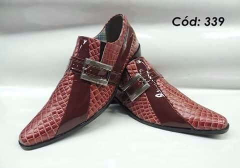 Sapato Social Artesanal Em Couro Mod: 335 Ao 349