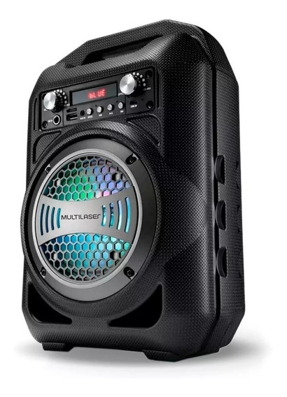 Caixa De Som Multilaser Bluetooth Usb Sp256 - Preta