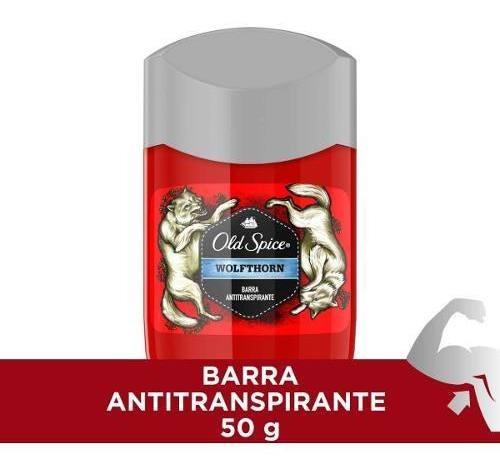 Desodorante Old Spice Wolfthorn Barra Antitranspirante 50 G