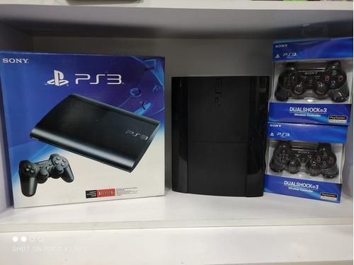Playstation3  Ps3 Super Slim 500 Gb Con Juegos+2controles