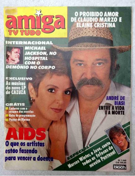 Amiga Nº 1.049 - Cazuza - Amigão - Caderno Novelas - 1990