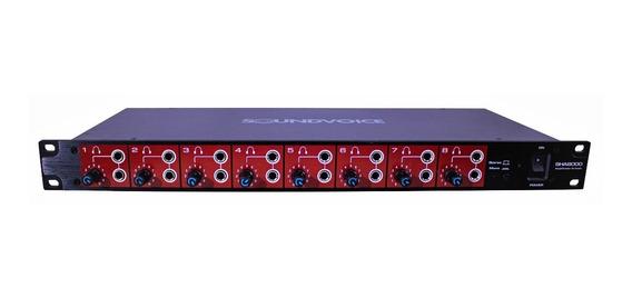 Amplificador 8 Fones Ouvido Sha8000 Soundvoice