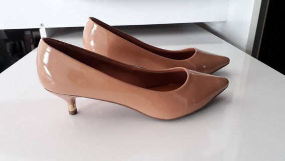 Sapato Scarpin Nude Verniz