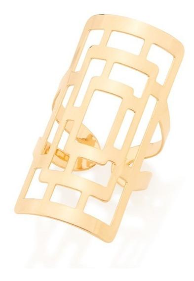 Anel Rommanel Fol Ouro Labirinto Vazado 512571 Joia Original