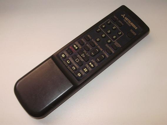 Controle Remoto Vcr Videocassete Mitsubishi Original Rm62502