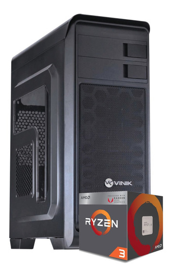 Pc Hunter Ryzen 2200g A320m-hd Fury 4gb Wd500 Bc350w