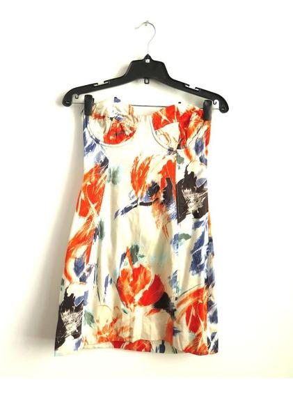 Vestido Maria Cher Strapless Algodon Talle 3