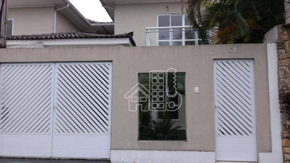 Casa Com 4 Dormitórios À Venda, 221 M² Por R$ 790.000,00 - Piratininga - Niterói/rj - Ca0652
