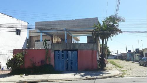 Casa De Esquina Com Piscina Em Itanhaém - 0084-cs