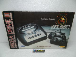 Mega Drive 3 Edição Mortal Kombat 3 C/ Caixa E Manual - Loja Centro Rj