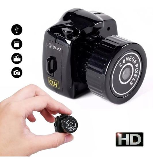 Mini Camara Espia Oculta Pequeña Microfono Foto Hd Seguridad