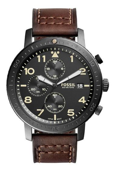 Relógio Fossil The Major Masculino Pulseira De Couro Ch3086