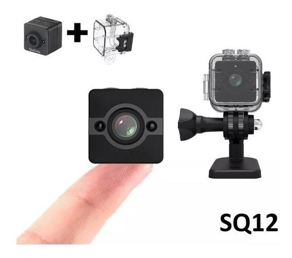 Mini Camera Dv Espia Sq12 + Caixa Case Estanque Prova Agua