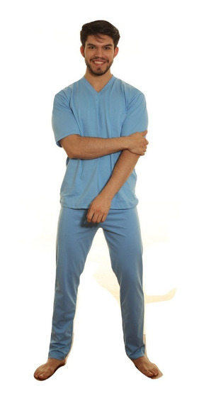 Pijama Hombre Jersey Manga Corta Pantalon Largo