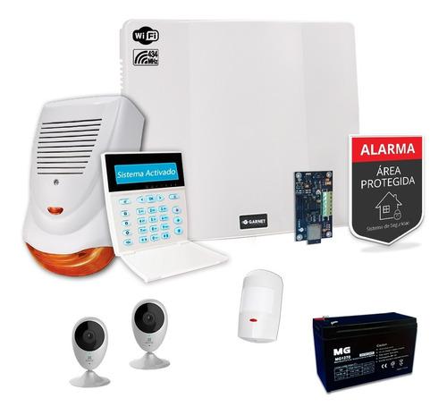 Kit Alarma Casa Camara Ip Wifi Internet Sensor Inalámbrico S