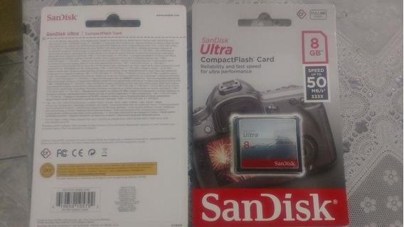 Cartão De Memória Compact Flash Cf Sandisk Ultra 8gb 50 Mb/s