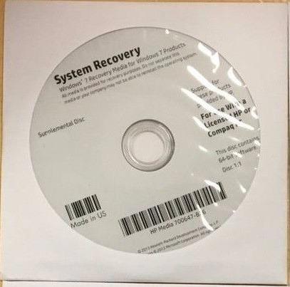 Dvd Recuperação Win7 Sp1 X64 H.basic Notebook Hp G42 -340br