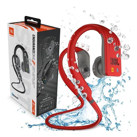 Fone De Ouvido Jbl Endurance Dive Bluetooth Ipx7 - Vermelho