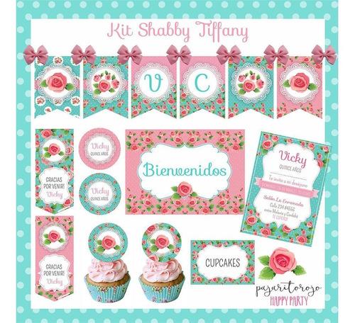 Kit Imprimible Shabby Tiffany