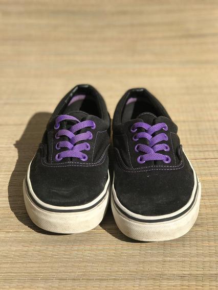Zapatillas Vans Unisex Negro Y Violeta
