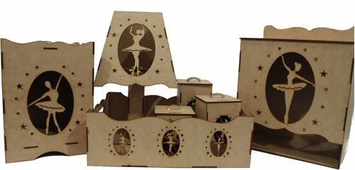 Imagem 1 de 2 de Kit Higiene Bebe Bailarina 7pçs Desmontado Quarto Menina