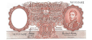 Billete 100 Pesos Moneda Nacional Bottero 2073a Excelente