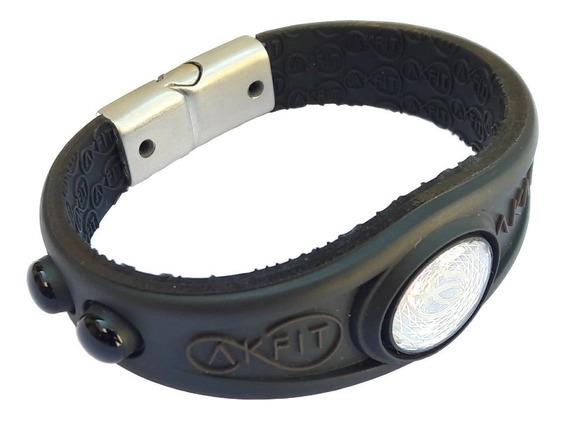 Pulseira Bracelete Akfit Elegance Magnetica Preta I9 Fitnes