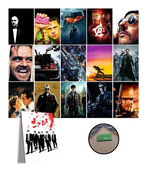 Kit Com 3 Placas Decorativas A4 Filmes Cinema Vários Modelos