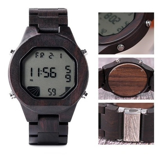 Relógio Madeira Feminino Masculino Unissex Promoção