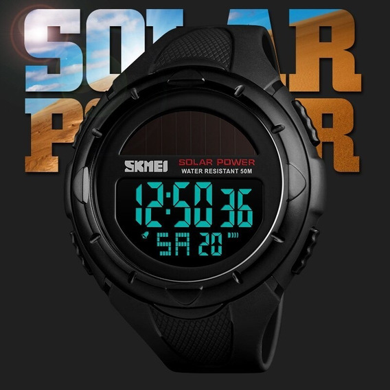 Relógio Digital Solar Prova D