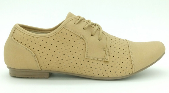 Sapato Sapatênis Oxford Feminino Facinelli Perfuros Macio