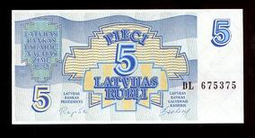 Cédulas Da Letônia - Flor De Estampa- Remessa Grátis L.464