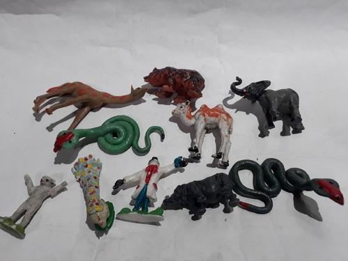 Simil Britains 1/32 Lote X 10 Animales Zoo De Plastico 1980s
