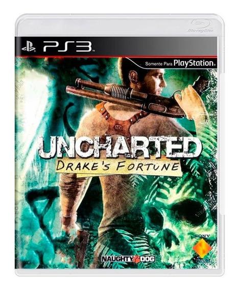 Jogo Uncharted Drakes Fortune Encartelado - Ps3 Física Usado