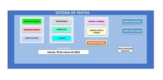 Sistema De Ventas E Inventario En Excel+gestor De Inventario