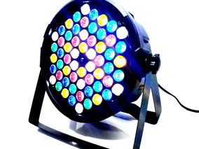 Refletor Slim Led Par 64 Rgbwa 60 Leds 3w Dmx Digital