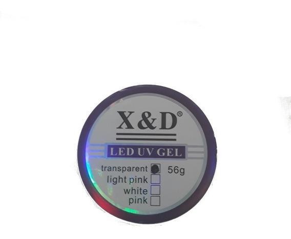 Gel De Unha Led Uv X&d Clear 56g Acrigel