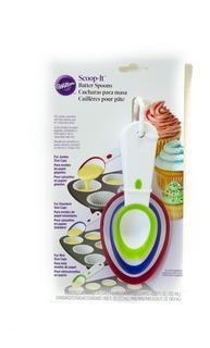 Cucharas Medidoras X3 - Llenado De Cupcake -wilton