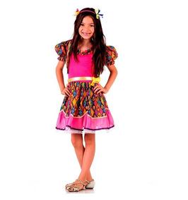 Vestido De Festa Junina Caipira Infantil Tamanhos 2 Ao 12
