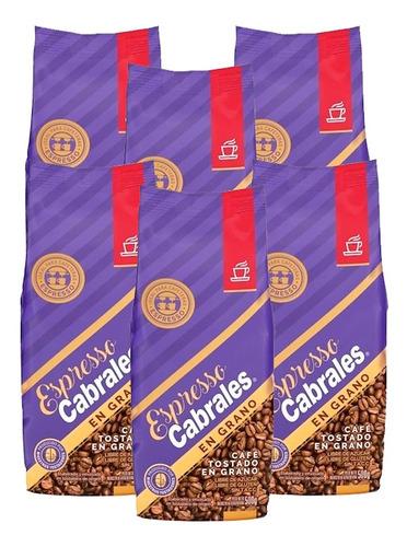 Imagen 1 de 7 de 6x Cafe Grano Super Cabrales Oro 500gr 3kg Tostado