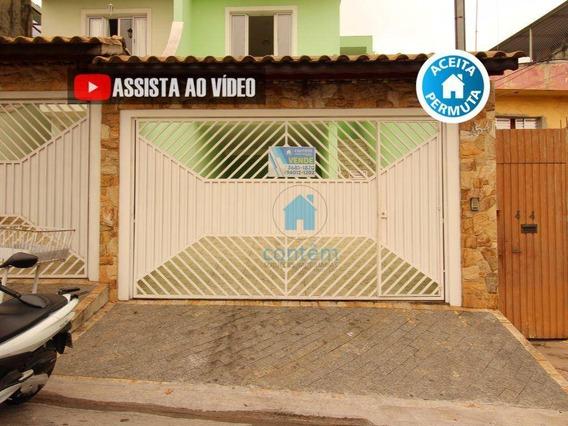 So0117- Sobrado Com 3 Dormitórios À Venda, 156 M² Por R$ 650.000,00 - Jardim D Abril - Osasco/sp - So0117