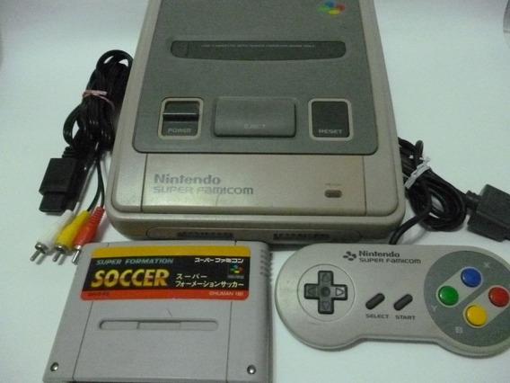 Snes Super Famicom Nintendo + 1 Controle + 1 Jogo