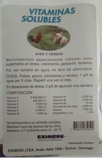 Vitaminas Solubles Para Aves Y Cerdos