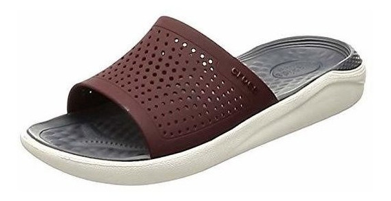 Chinela Crocs Literide Slide Bordo 20%off - Los Gallegos