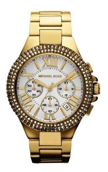 Relógio Luxo Michael Kors Mk5756 Orig Chron Anal & Swarovski
